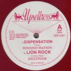 UPS 12 001 Winston Watson - Dispensation- Dillinger